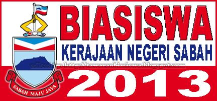 Tawaran Biasiswa Kerajaan Negeri Sabah (BKNS) 2013 untuk peringkat