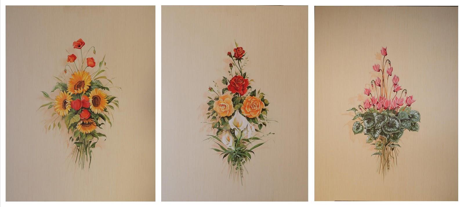 Mimmo beccarisi decorazioni floreali ante armadio a muro - Decorazioni muro ...