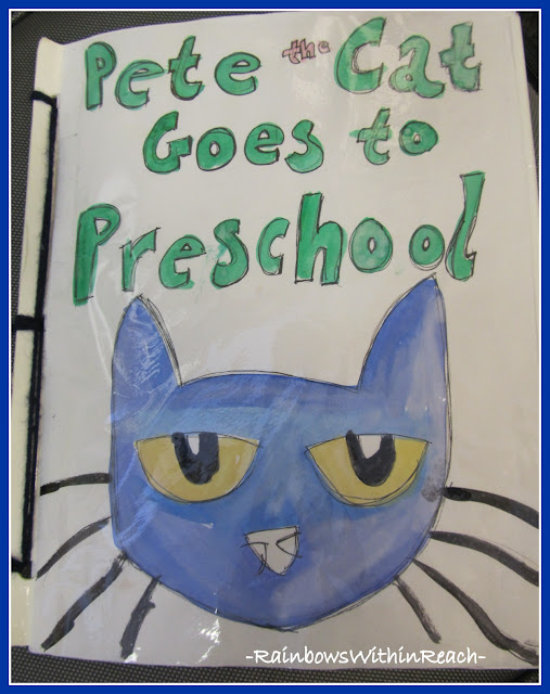 photo of: Pete the Cat Goes to Preschool, a class book response to popular picture book
