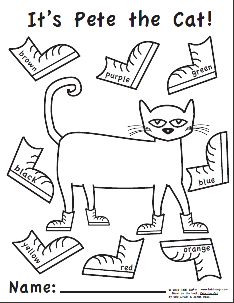 pete the cat shoe printable images pictures becuo - Pete Cat Shoes Coloring Pages