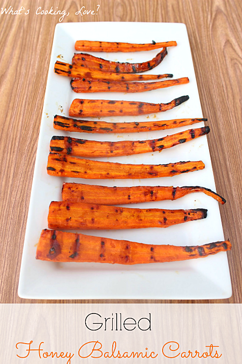 Grilled Honey Balsamic Carrots - Whats Cooking Love?