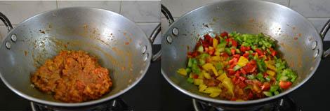 capsicum corn masala