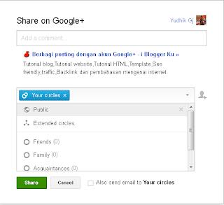 Google+-share post