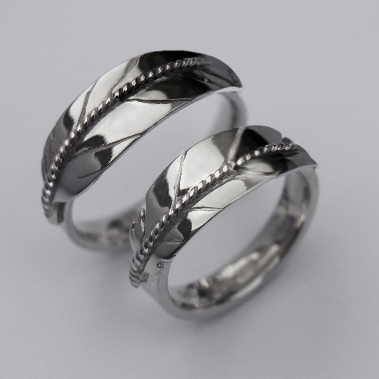 ojibwe native american silver wedding rings gallery 2 - Native American Wedding Rings
