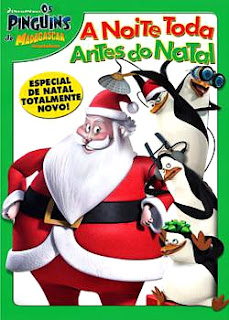 Filme Poster Os Pinguins de Madagascar – A Noite Toda Antes do Natal DVDRip XviD Dual Audio & RMVB Dublado