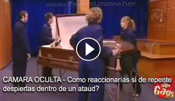 CAMARA OCULTA - Como reaccionaría si de repente despierta dentro de un ataúd?