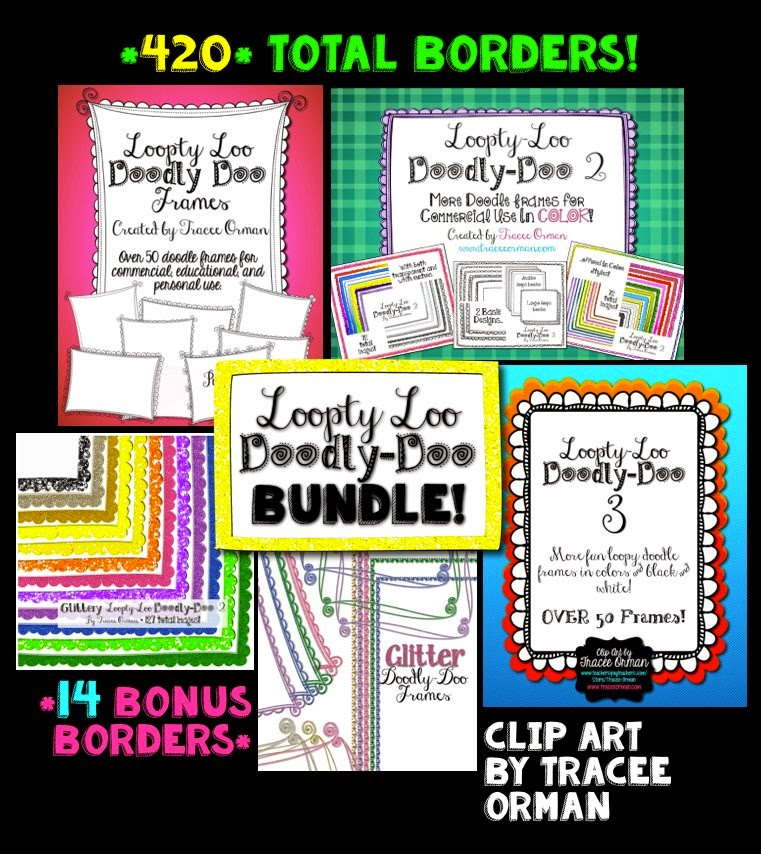 Loopty Loo Doodly Doo graphics bundle for commercial use