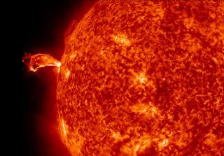 solar flare on sun