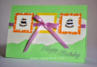 Mini cupcakes handmade birthday greeting card