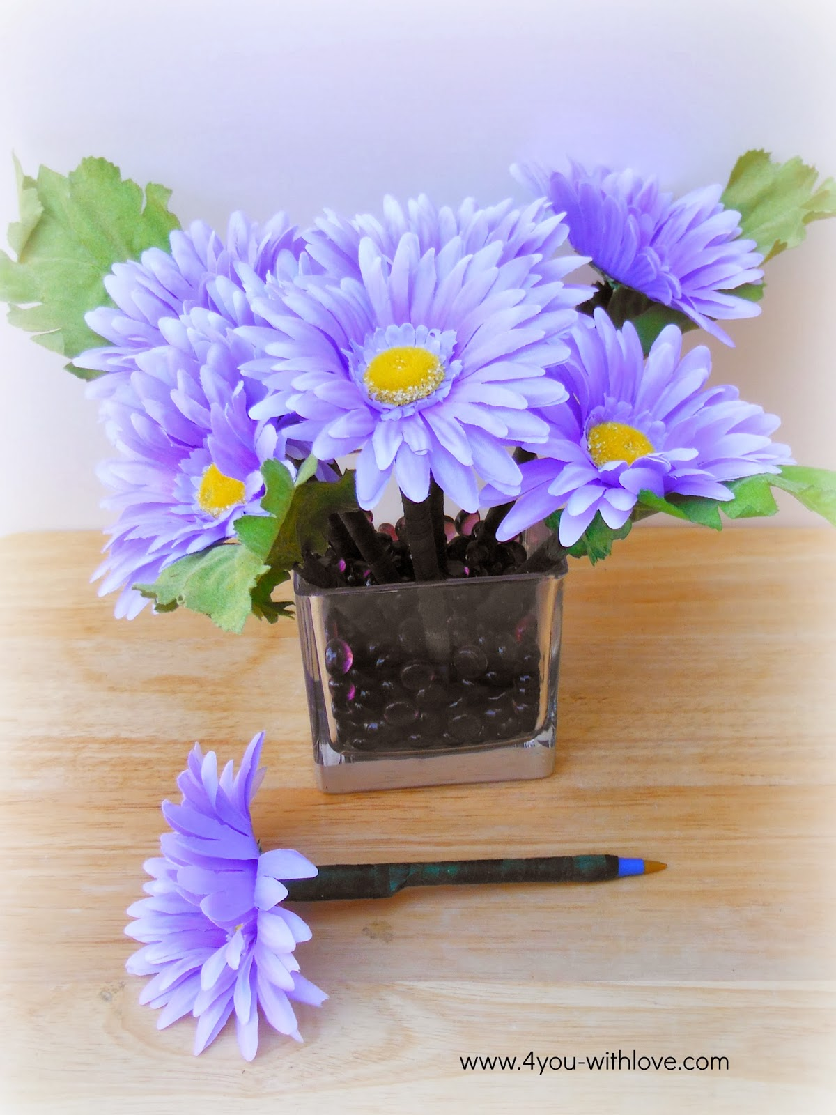 Flower Pen Bouquet (#craftmonthlove) - 4 You With Love