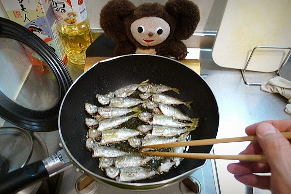 塩を入れない豆アジの南蛮漬けフレッシュトマト入りの作り方(3)