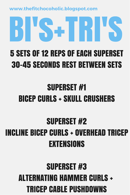 Bi & Tri Superset Workout