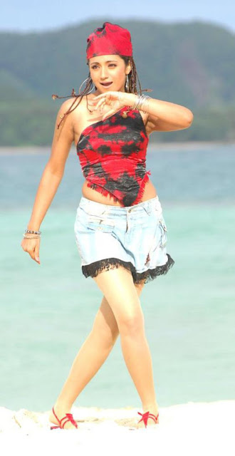 Trisha Cute Beach Stills