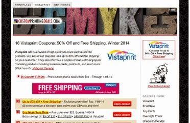 Coupon code vistaprint.ca