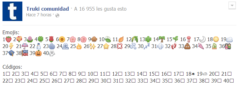 Emoji o emoticones especiales de Facebook para comentarios, chat y ...