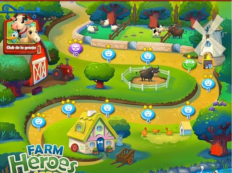 Los escenarios de Farm Heroes Saga