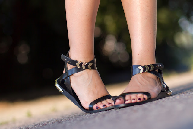 Sandalias planas gladiador