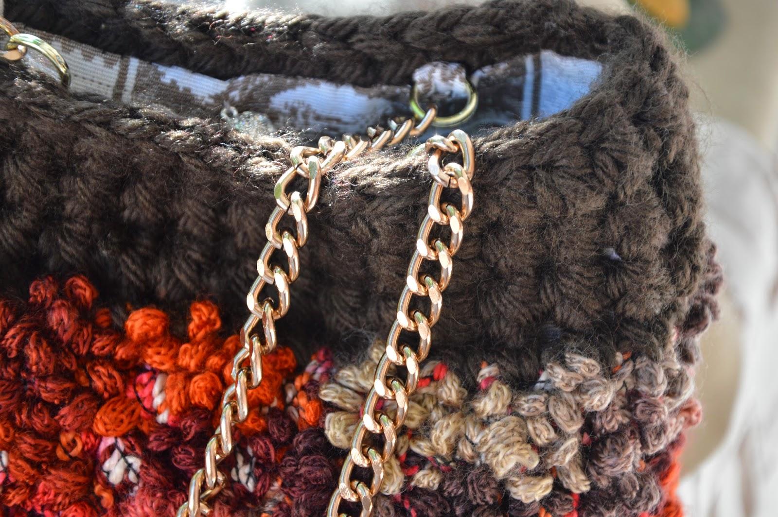 Borsa Lana Merinos e lana Bouclé