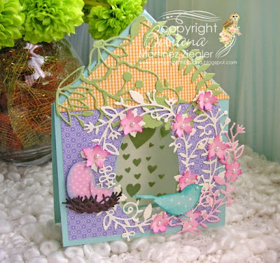 Bird tent card for mother's day front