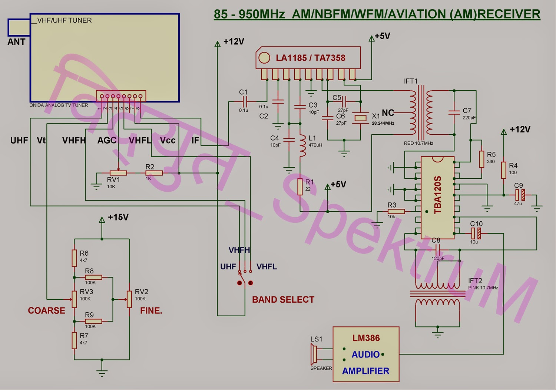 Vu3zag Expedition 85 950mhz Analog Am Wfm Nfm Receiver De Junk Bee 12 Volt Power Supply Schematic Also Fm Radio Circuit Diagram
