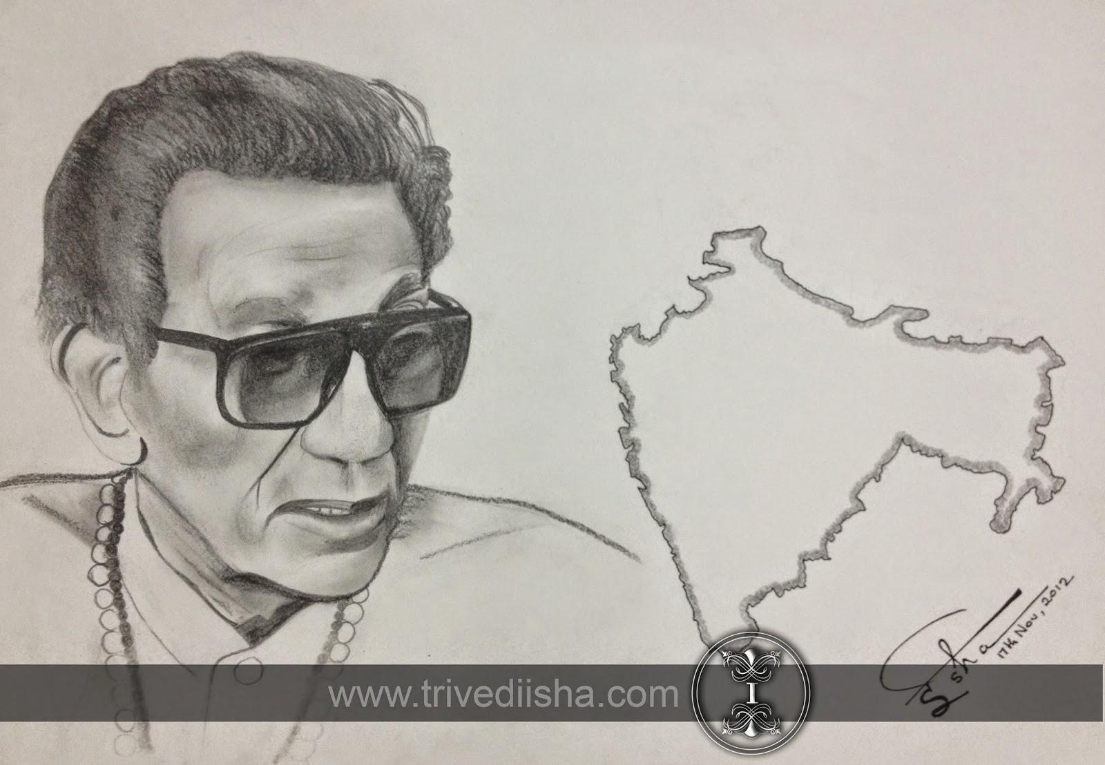"Manna Dey sketched by Isha Trivedi ""Isha Trivedi"""