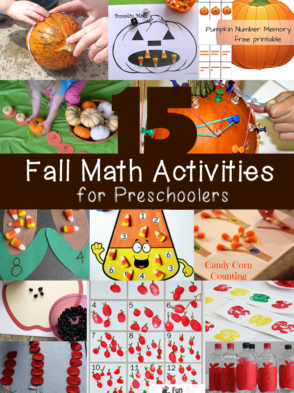 15 Fall Math Activities for Preschoolers