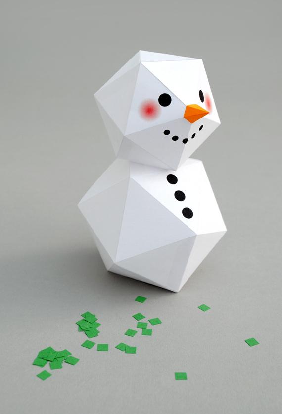 Gk kreativ sonntag ist kindertag 3 d schneemann basteln - Schneemann olaf basteln ...