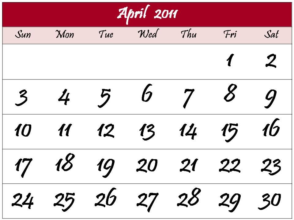 april easter 2011 calendar. April+easter+2011+calendar