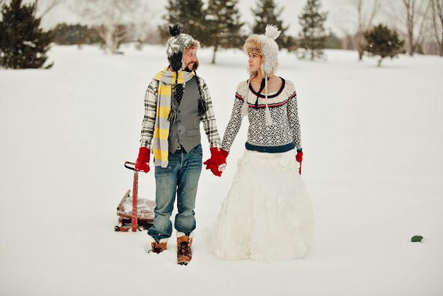 PostBoda Divertido en la Nieve.
