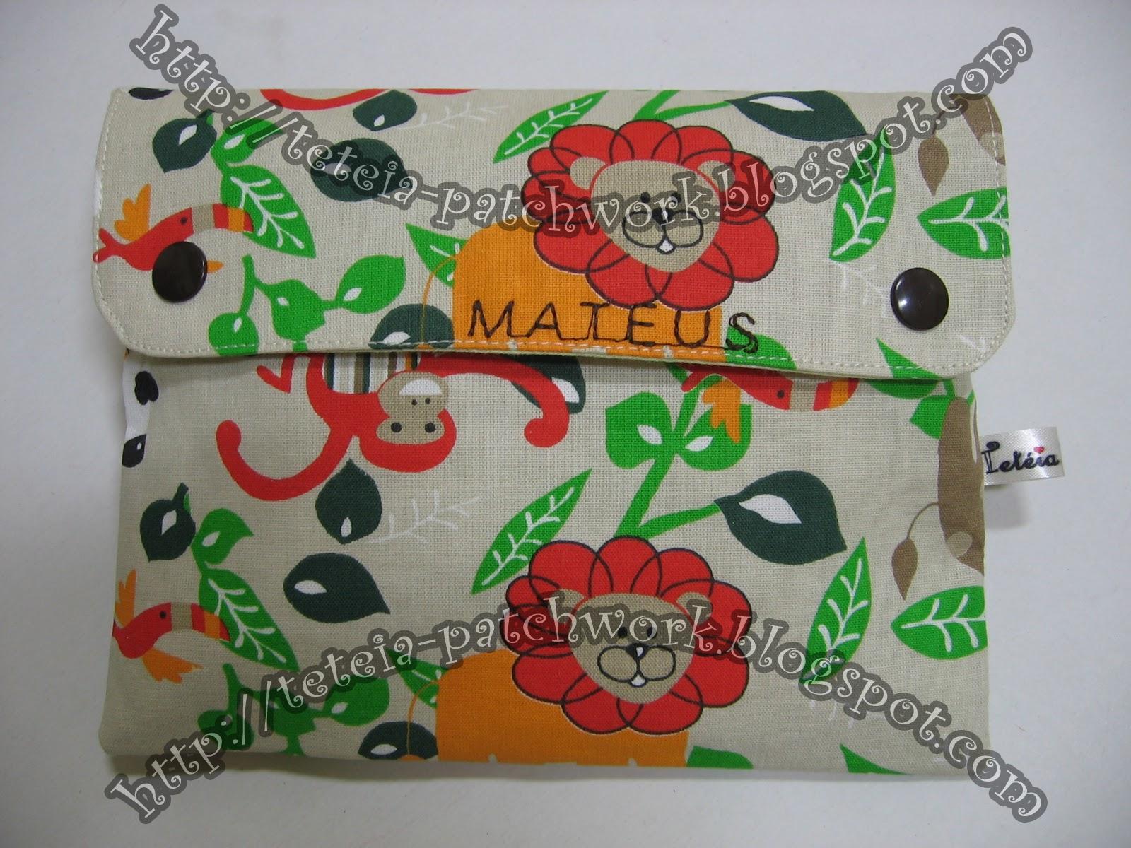 Tetéia Patchwork: Kit higiene bucal infantil floresta/ verde água  #B1691A 1600x1200