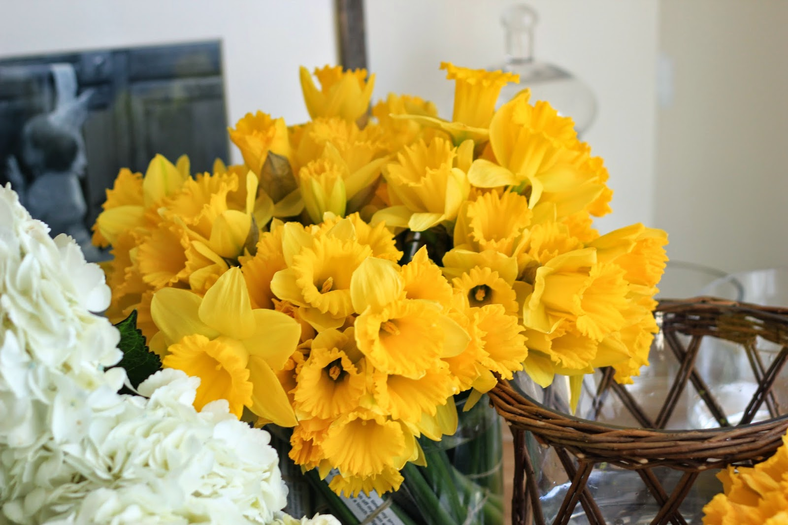 Jenny steffens hobick surprise birthday party for joy spring mike and emma when to the flower market in the morning with me and we bought everything that was yellow white springy and smelled good izmirmasajfo