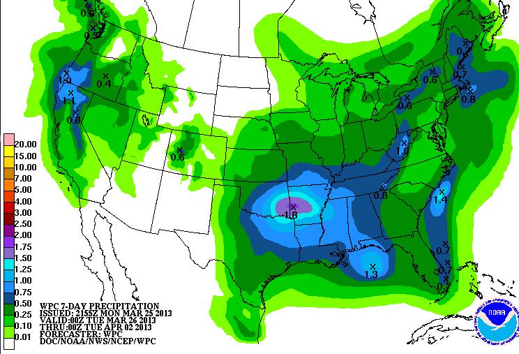 Us Map Rainfall Globalinterco - Percipitation map of us