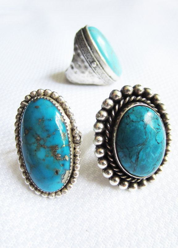 apartmentf15 turquoise statement ring
