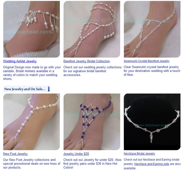 Swarovksi Pearl Foot Jewelry - LadyBead.com
