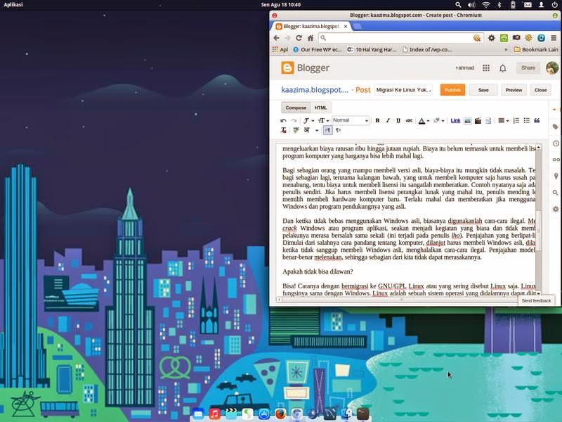 Migrasi Ke Linux: Ngeblog di Linux Elementary OS.