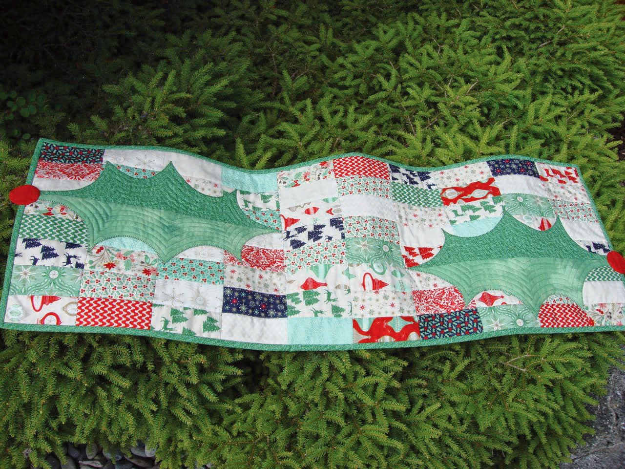 and One   greenery holiday runner runner patterns included table festive table tropical with some