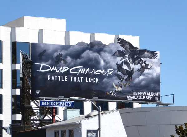 David Gilmour Rattle that lock special extension birds billboard