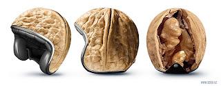 capacete cabeça globo de noz