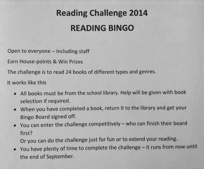 library displays bingo reading challenge