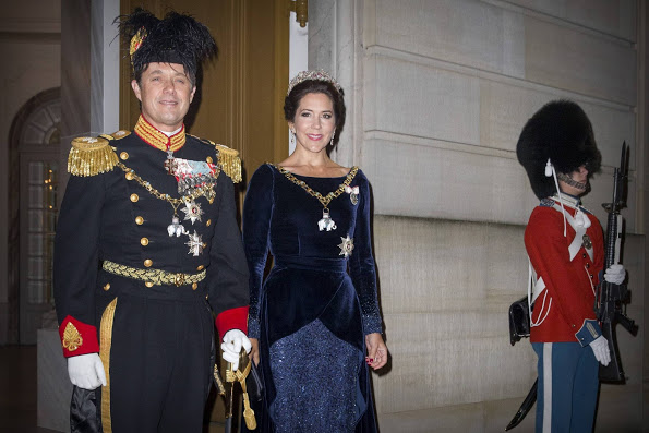 Danish Royals Attended The New Years Reception, 2016