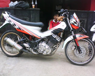 Modifikasi satria fu air brush 4