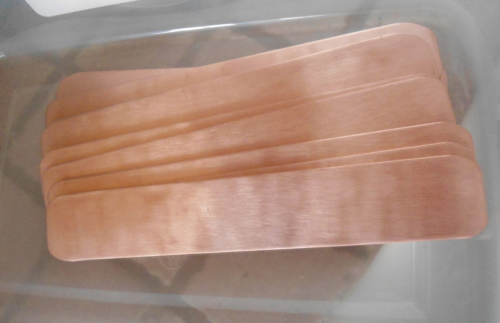 Started Prepping Some Copper Bracelet Blanks Triming Filing And Cleaning Ready For Resist
