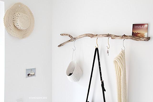 baroquine diy in der elbinselwilla garderobe anna wood. Black Bedroom Furniture Sets. Home Design Ideas