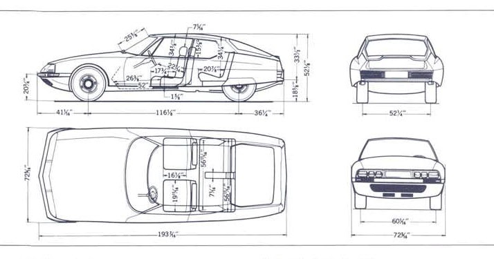 citroen sm engineering drawings