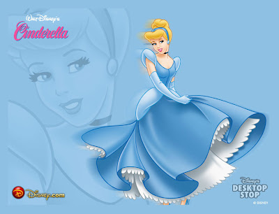 Walt Disney Princess Cinderella Character With Blue Dress