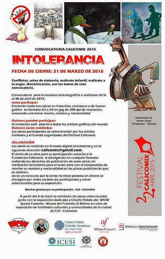 Convocatoria de Caricatura. CALICOMIX 2015
