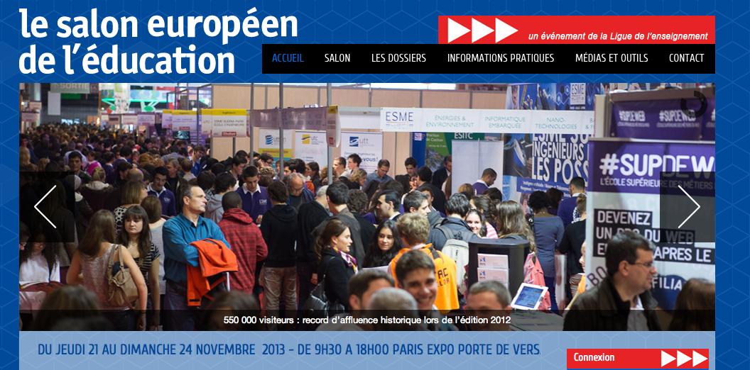 En direct de la fcpe michelet novembre 2013 for Salon europeen de l education porte de versailles