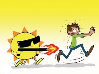 ارتفاع حرارة الشمس يسبب مشاكل صحية كبيرة.