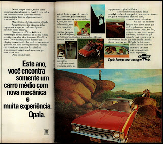 propaganda Chevrolet Opala - 1974.brazilian advertising cars in the 70. os anos 70. história da década de 70; Brazil in the 70s; propaganda carros anos 70; Oswaldo Hernandez;