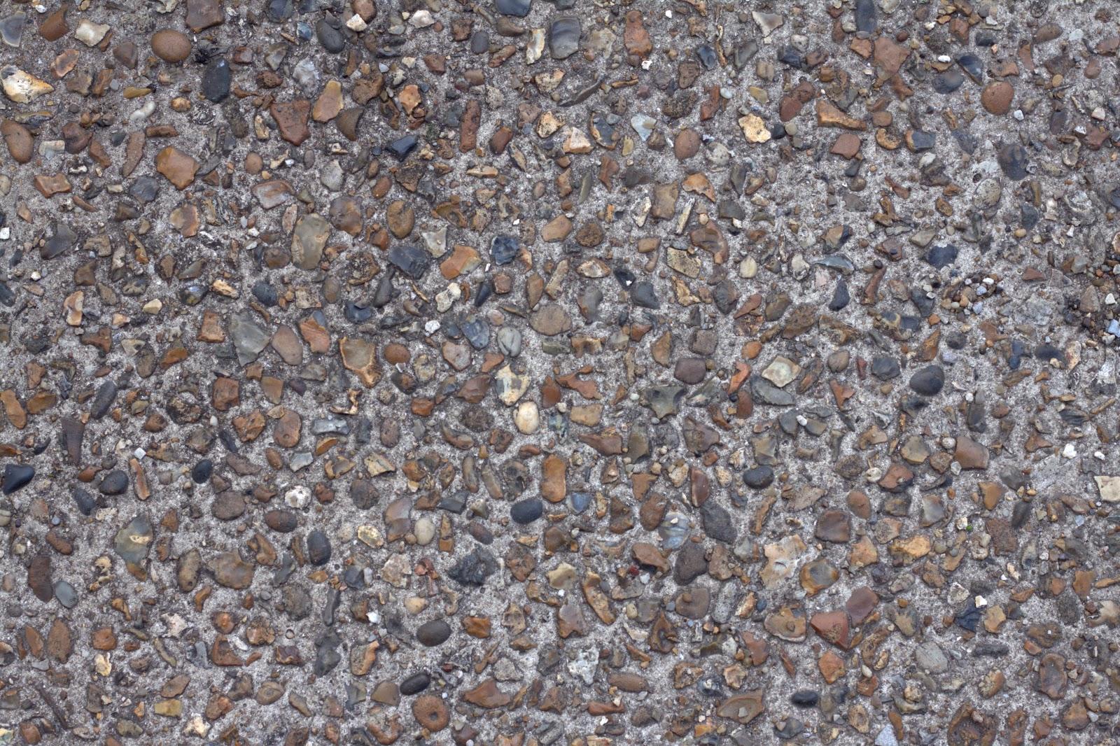 Concrete cobble pebble stone walkway pathway texture ver 2